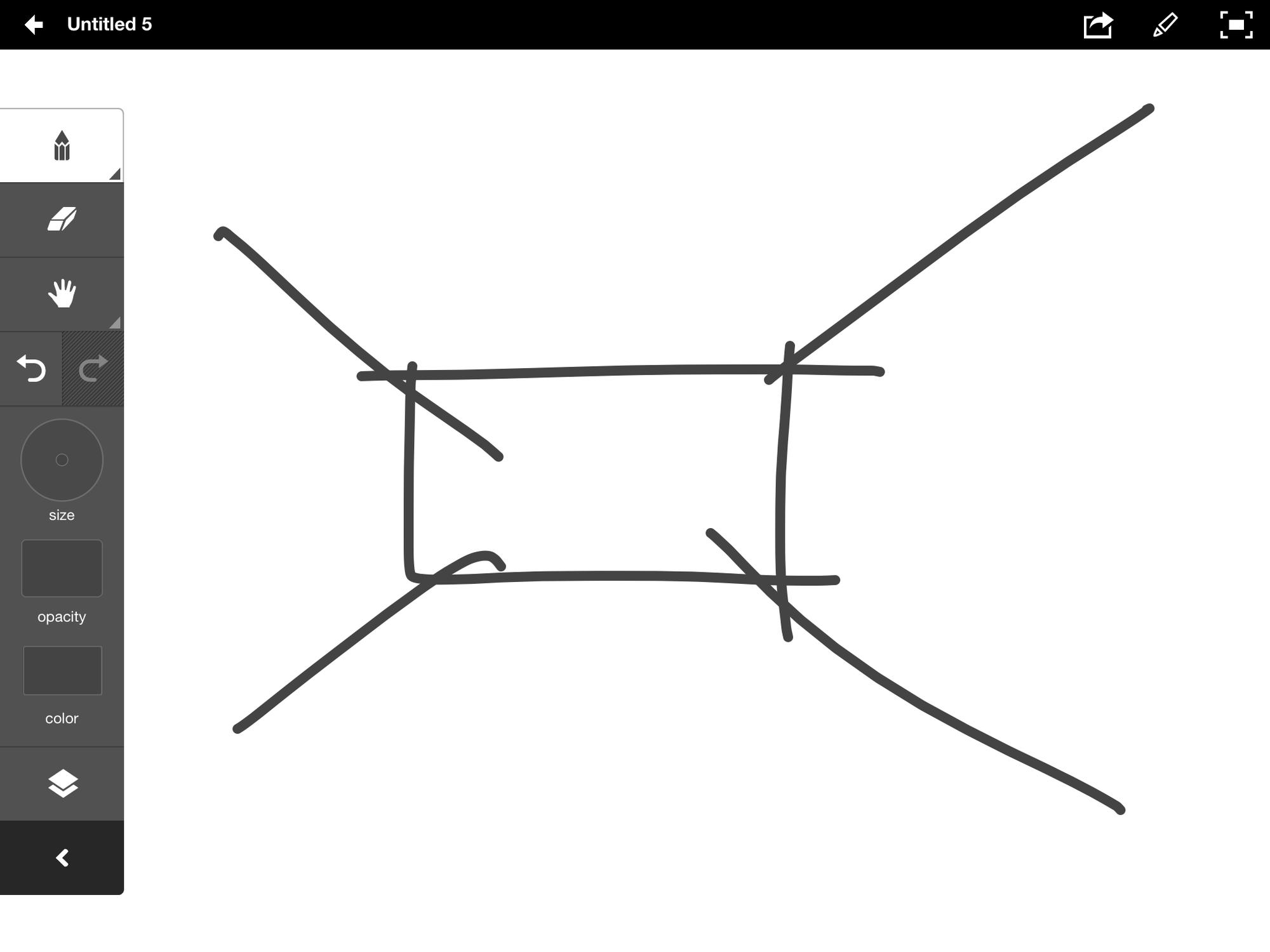 Vector based sketching