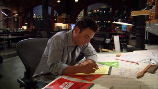 Screenshot from How I Met Your Mother. Image Courtesy of 20th Century Fox Television