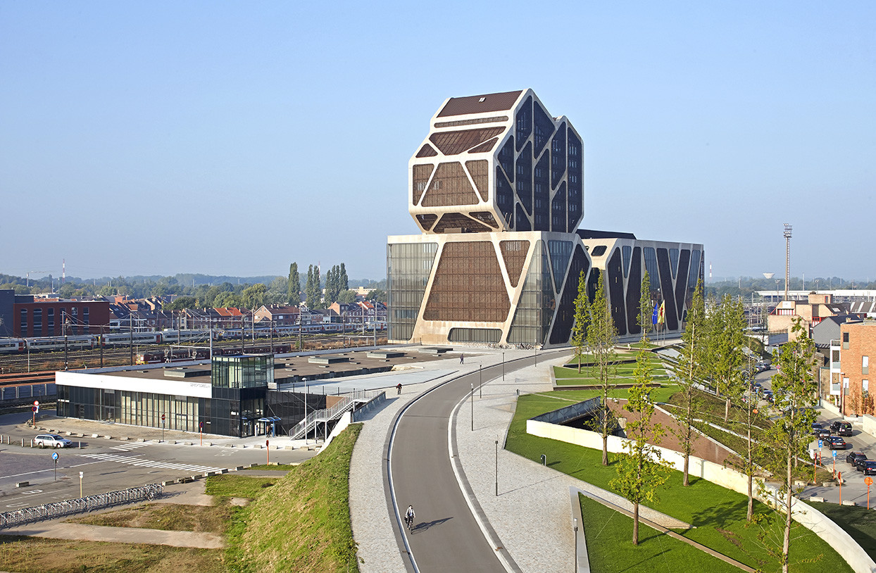 Hasselt Court of Justice / J. Mayer H. Architects + a2o architecten + Lens°Ass architecten by Hufton+Crow, © Hufton+Crow