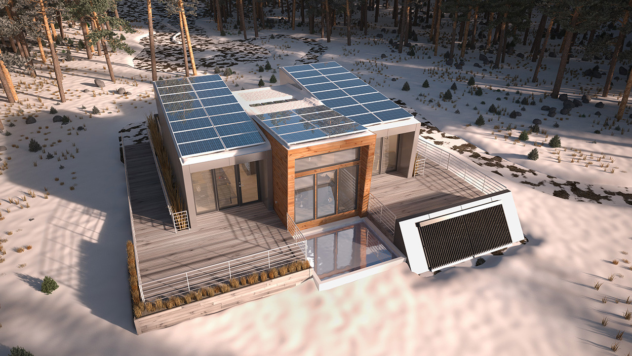 Solar Decathlon 2013: Team Alberta Designs Modular Home for Remote Locations, Render. Image Courtesy of Team Alberta Solar Decathlon 2013