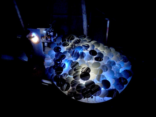 Light Forest installation, AA DLAB: Blue, London / Hooke Park, July - August 2013 (photo: Elif Erdine)