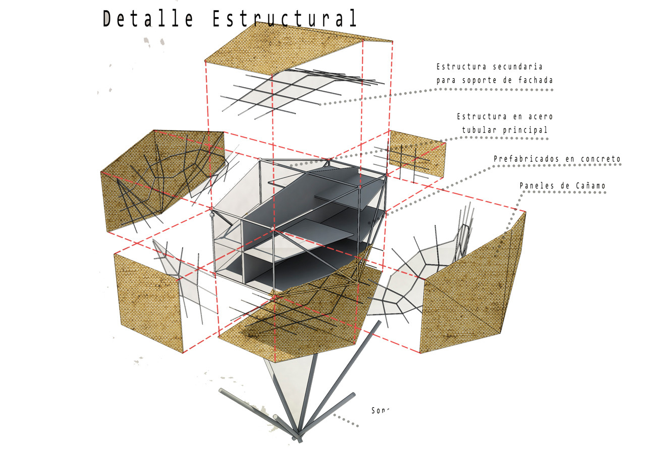Detalle Estructural. Image Courtesy of Steven Rubio