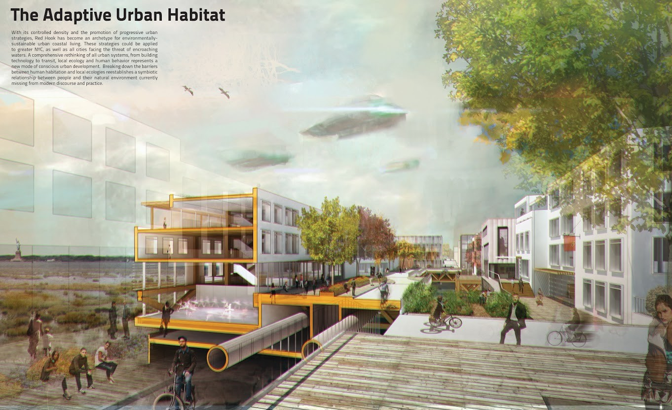 First Place: Adaptive Urban Habitats / Mixed Paper