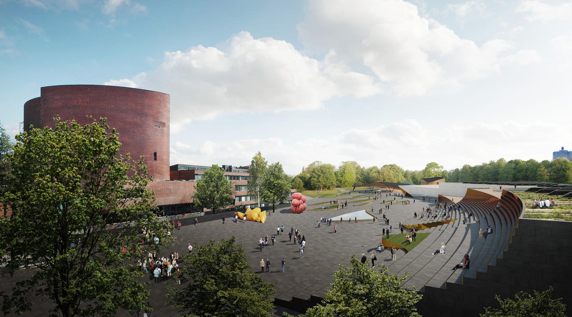 Plaza Rendering. Image © ALA Architects