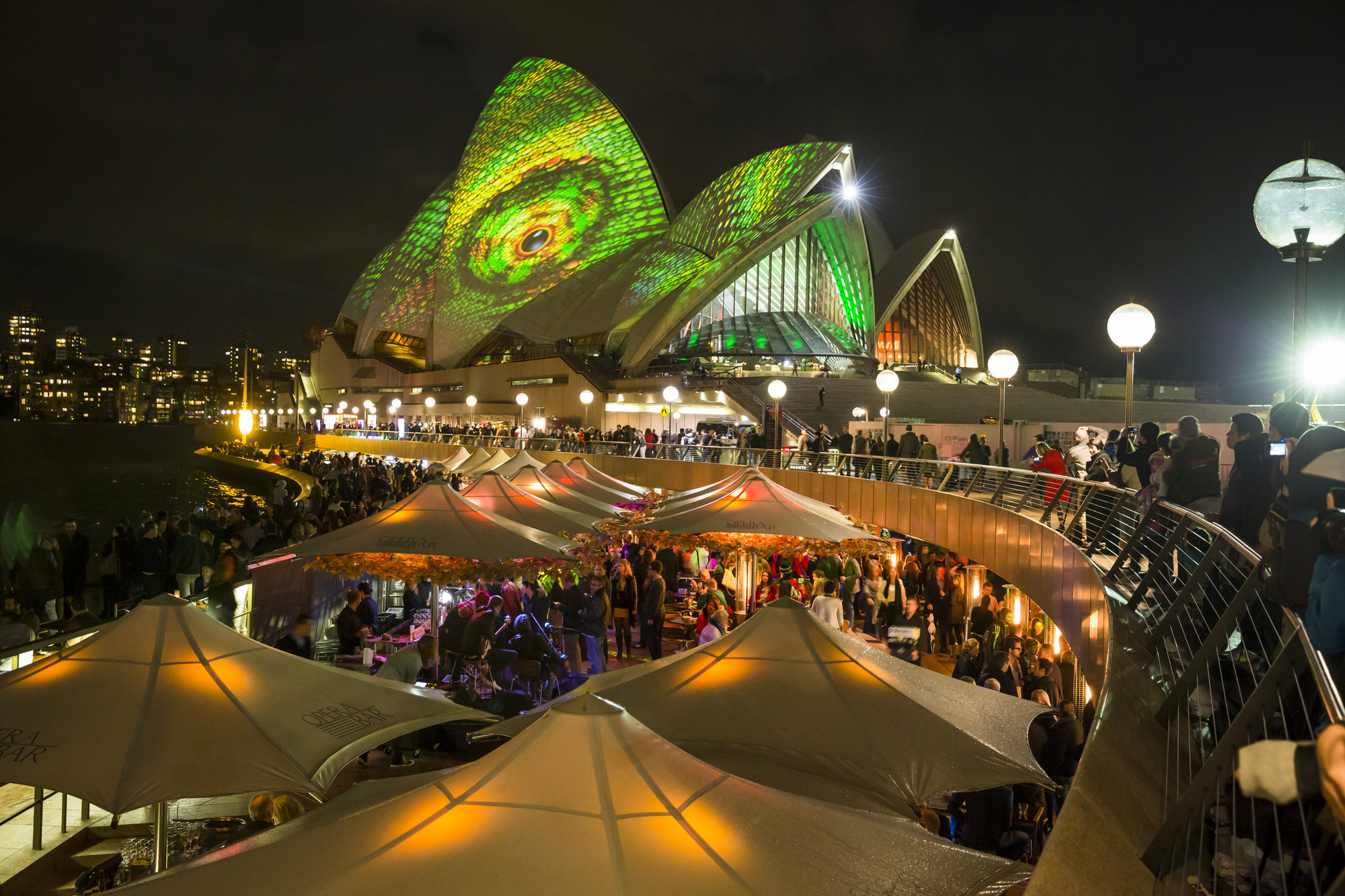 Vivid Sydney lights the Opera House. Image Courtesy of Vivid Sydney