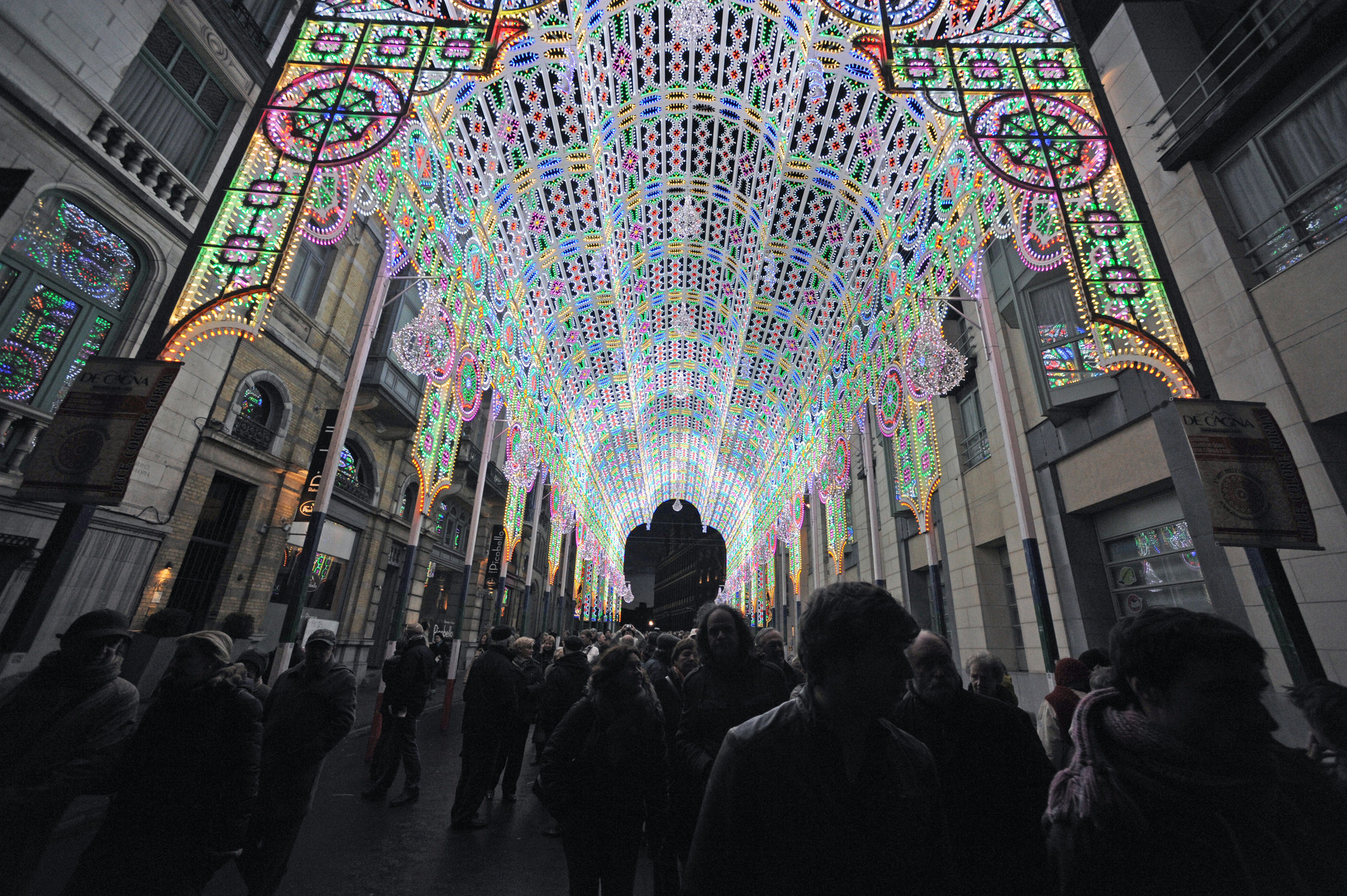 Cagna Illuminations, 2012. Design: De Cagna . Light Festival Ghent. Image Courtesy of City of Ghent