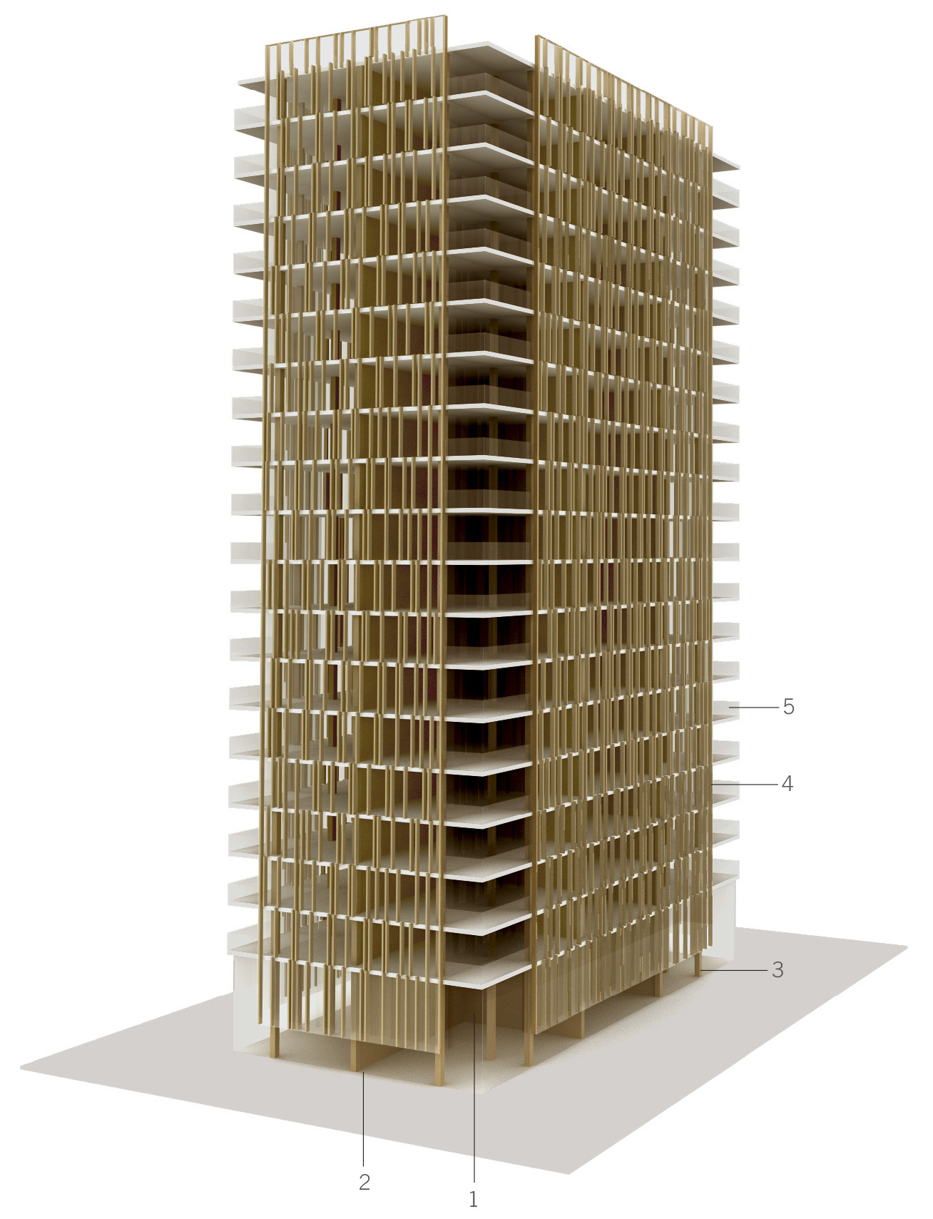 The Case For Tall Wood Buildings,Courtesy Of Michael Green Architecture