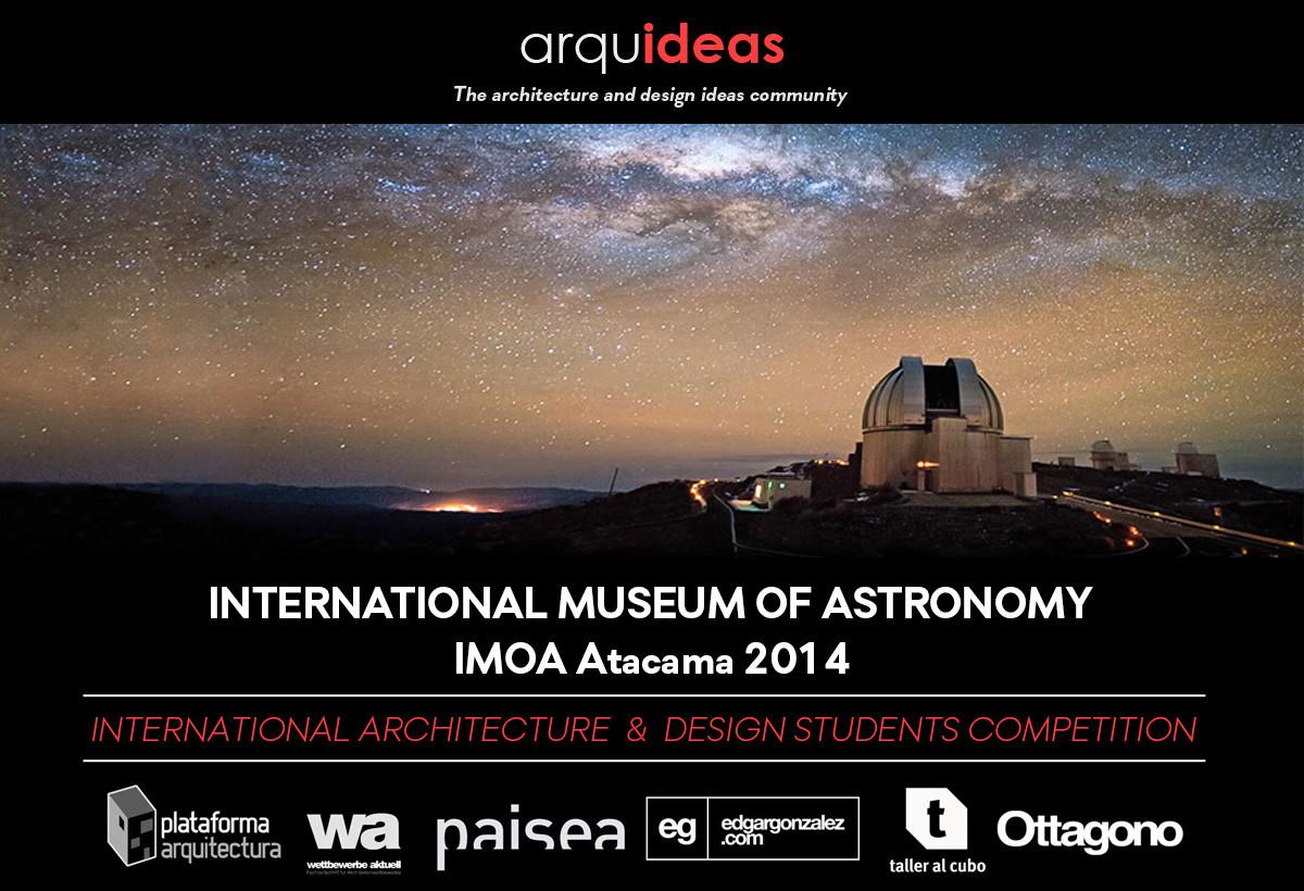 """Convocatoria Concurso para estudiantes y jóvenes arquitectos  """"Museo Internacional de Astronomía IMOA en el Desierto de Atacama"""", Courtesy of Arquideas"""