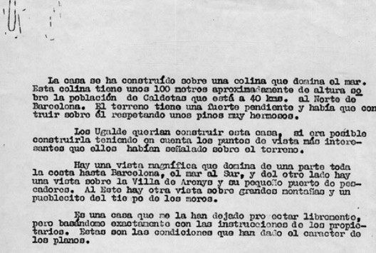 Texto de José Antonio Coderch