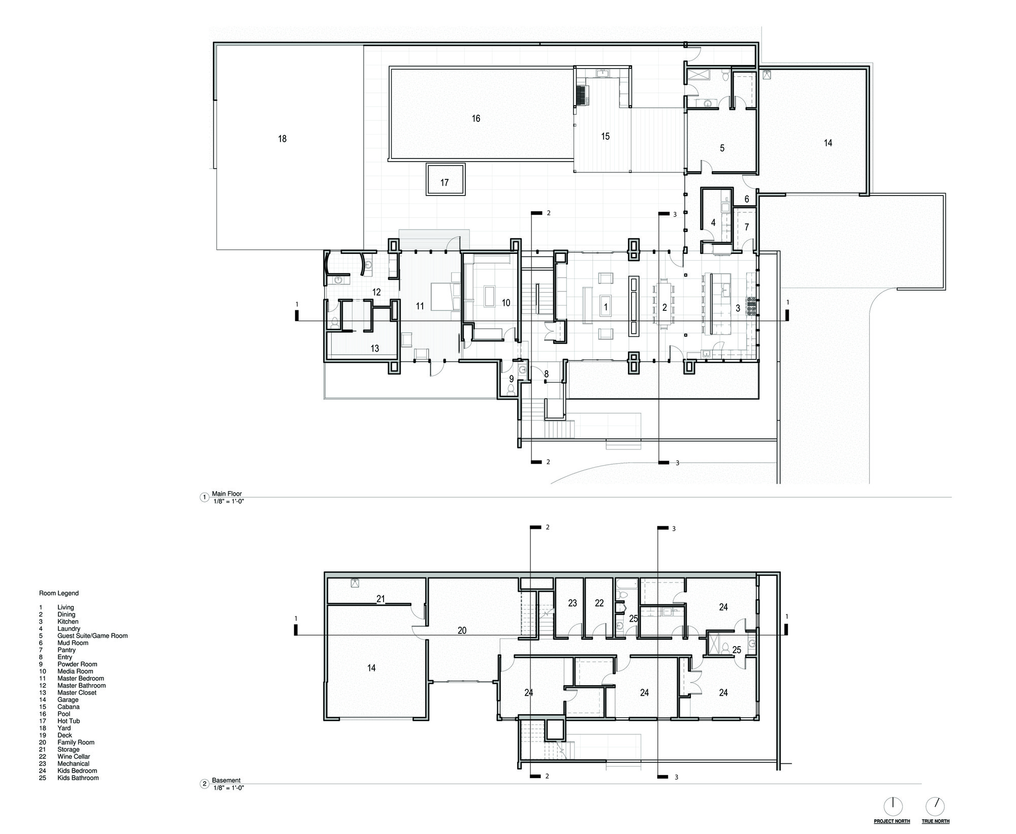 2 Story Villa Floor Plans Gallery Of Badger Mountain House First Lamp Architecture