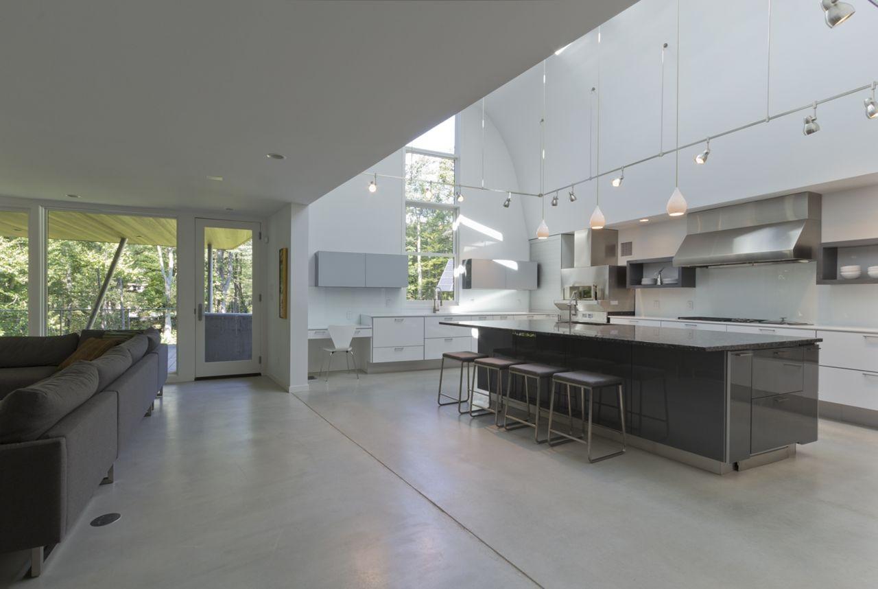 Galeria de casa no lago berkshire david jay weiner 3 for Casa minimalista bosque