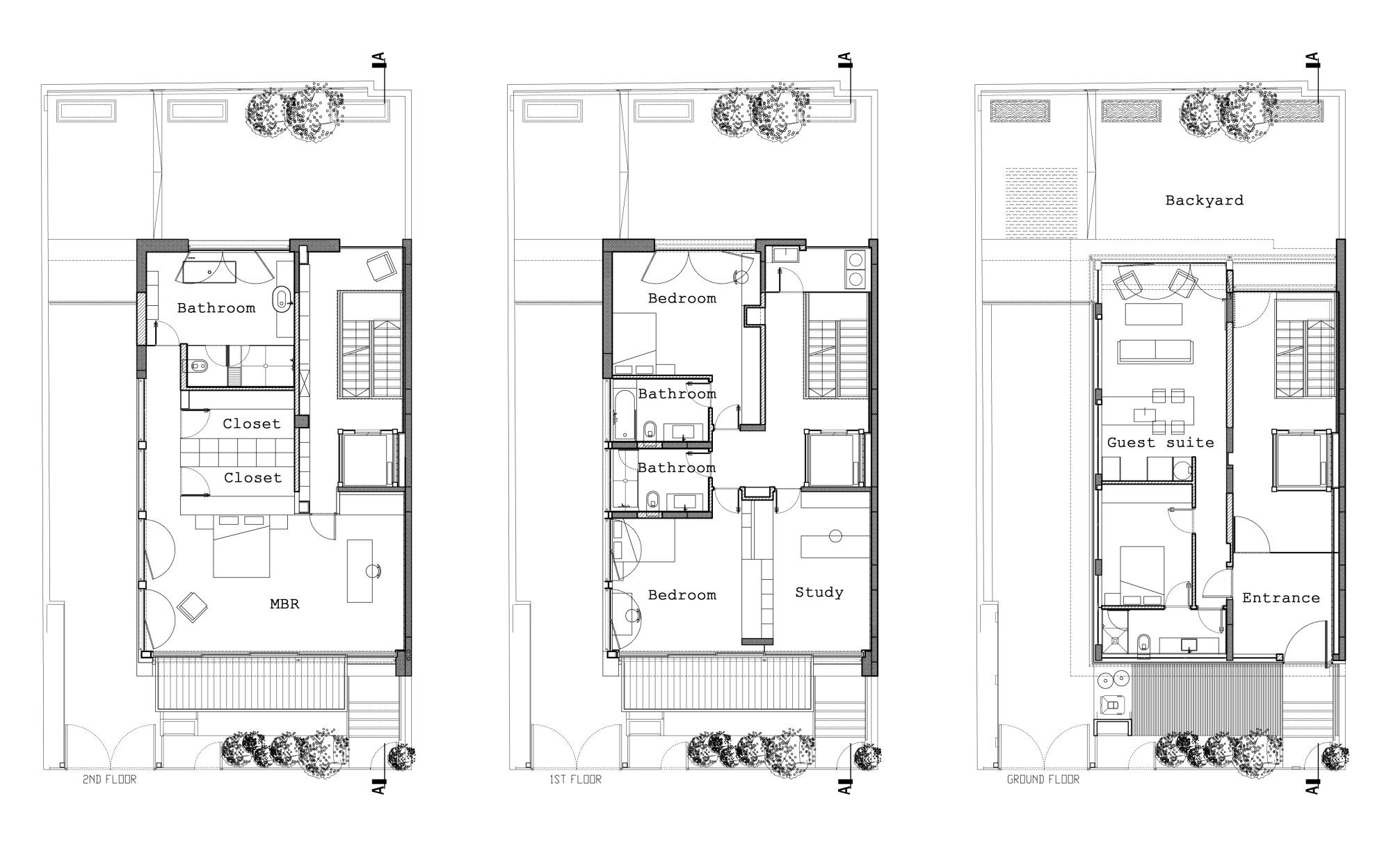 Townhouse plans modern house for Townhouse design