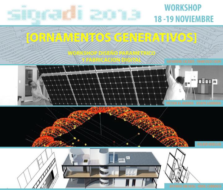 Cuatro Workshops en el SIGraDi 2013 en Valparaíso [¡Sorteamos un Cupo!]
