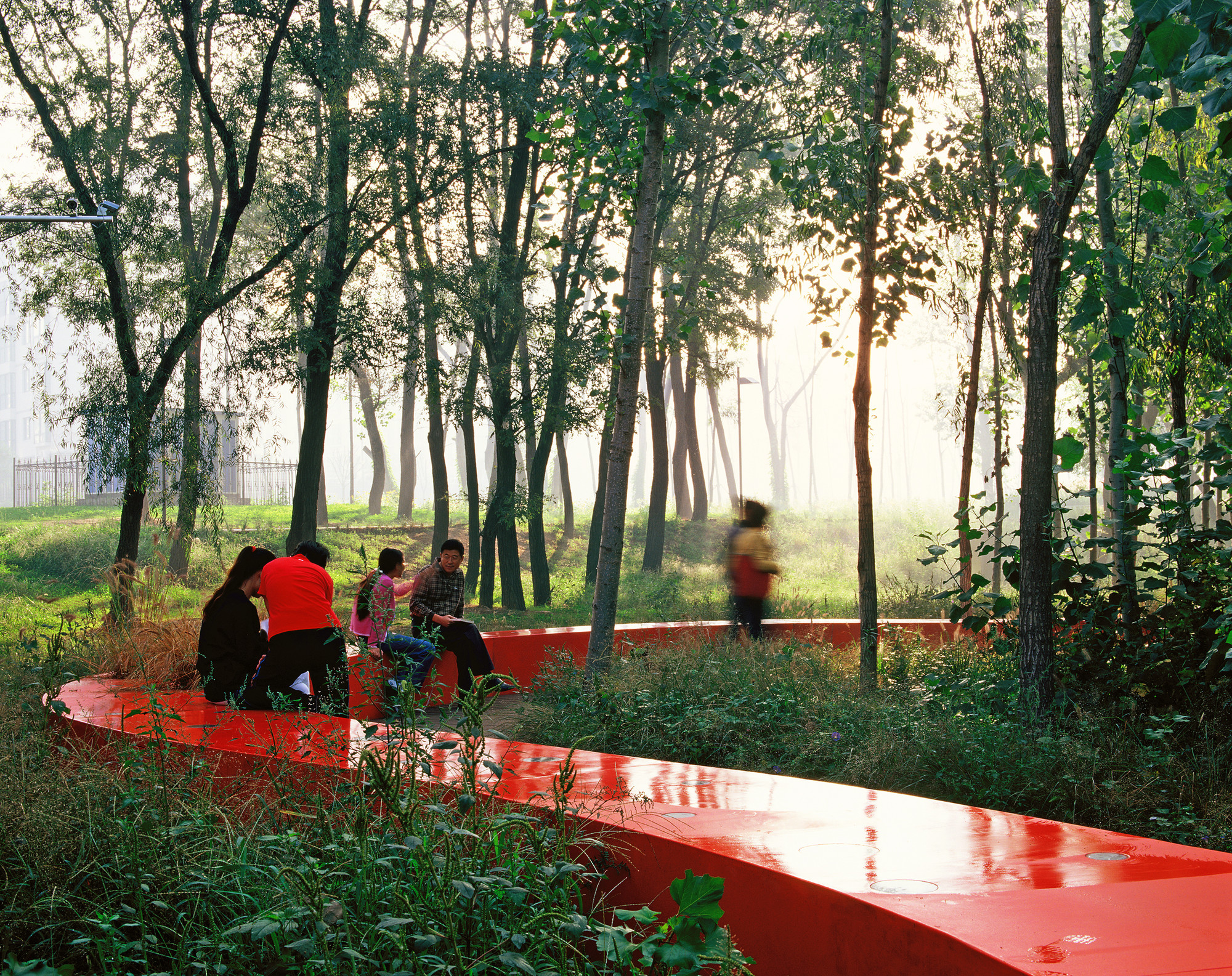 Red ribbon park turenscape archdaily for Red landscape architects