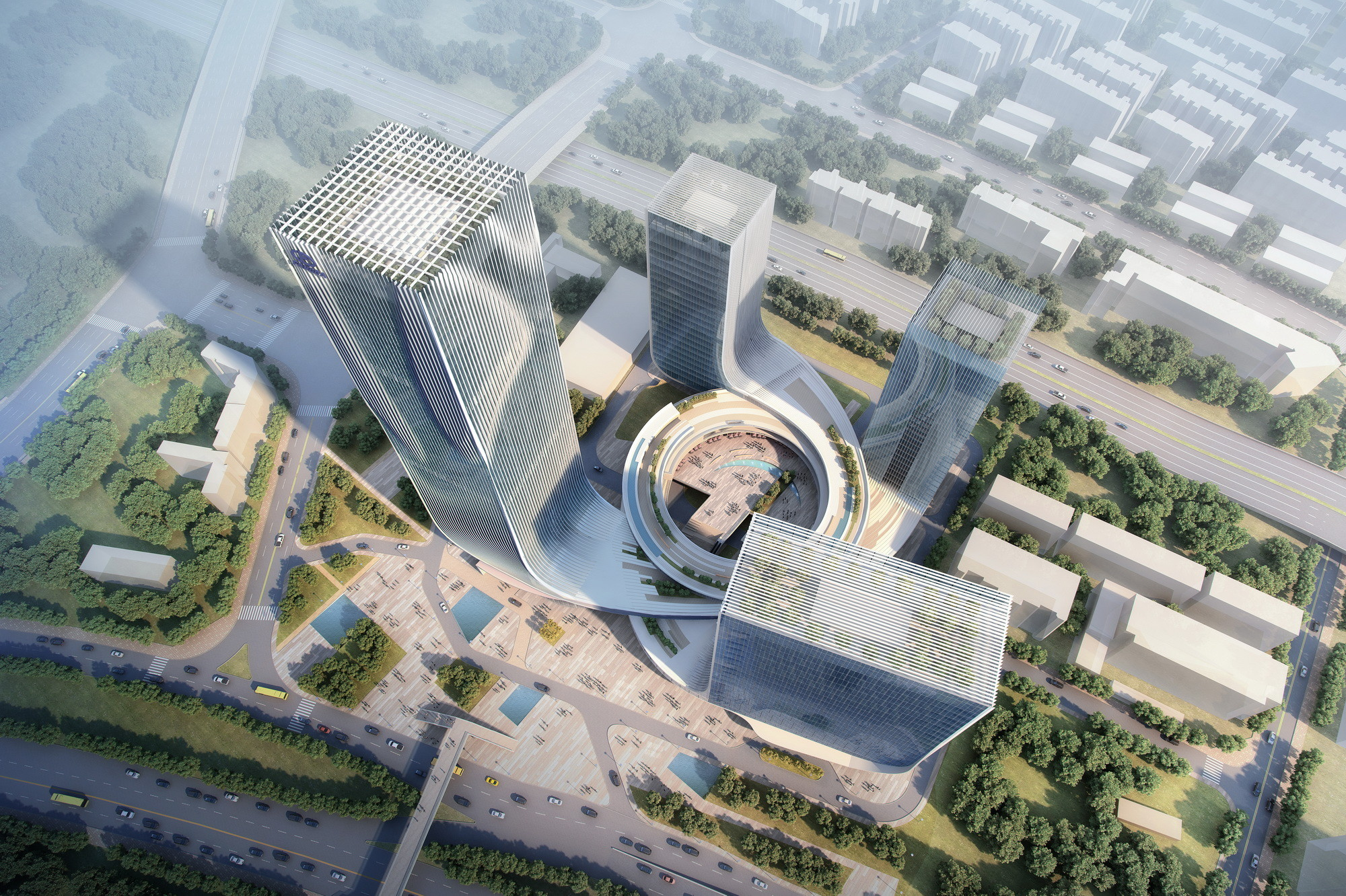 """Fangda Business Headquarters"" Winning Entry / Huasen Architects  , Courtesy of Huasen Architects"