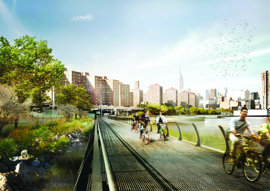 WXY Studio's East River Blueway Plan. Image Courtesy of WXY Studio