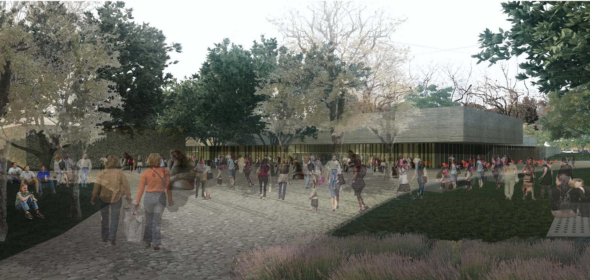 Primer Lugar Concurso nacional de anteproyectos para el Museo Sanmartiniano de Mendoza, © Equipo Primer Lugar
