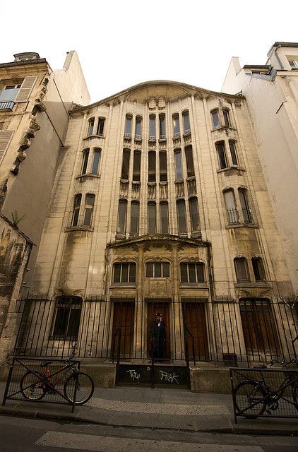 "Synagogue de la rue Pavée à Paris, 1913, designed by Hector Guimard, is an example of architecture whose ""form language blends and connects with Pattern Language"". Image © Flickr CC User designwallah"