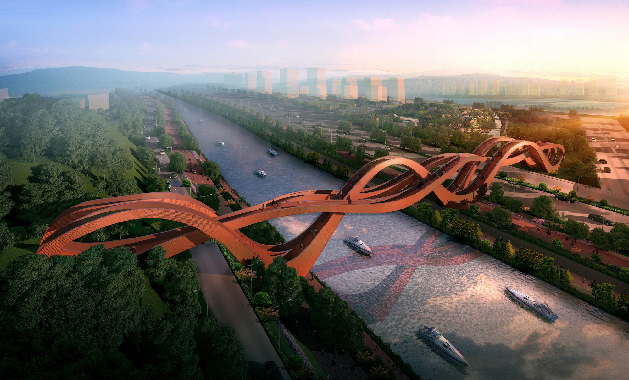 NEXT Architects Win Competition for Changsha Bridge, Courtesy of NEXT Architects