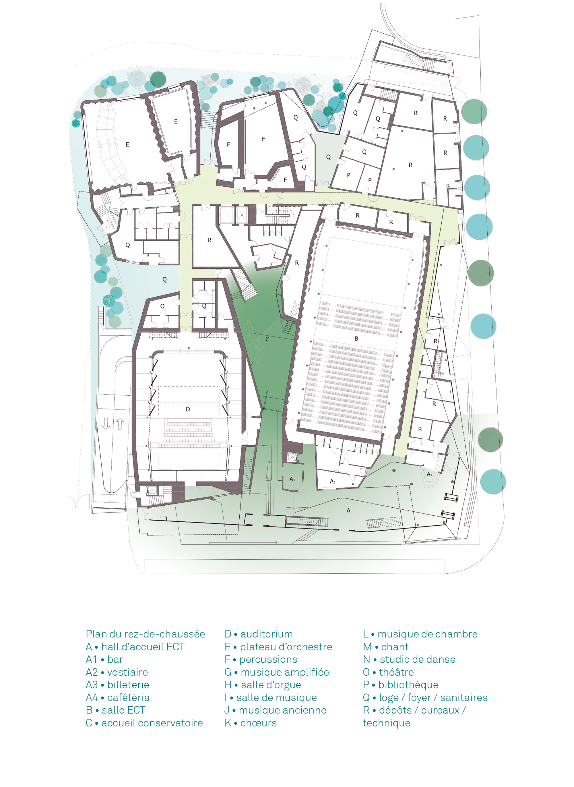 Gallery of conservatoire d 39 aubervilliers agence chochon - Porte d aubervilliers plan ...