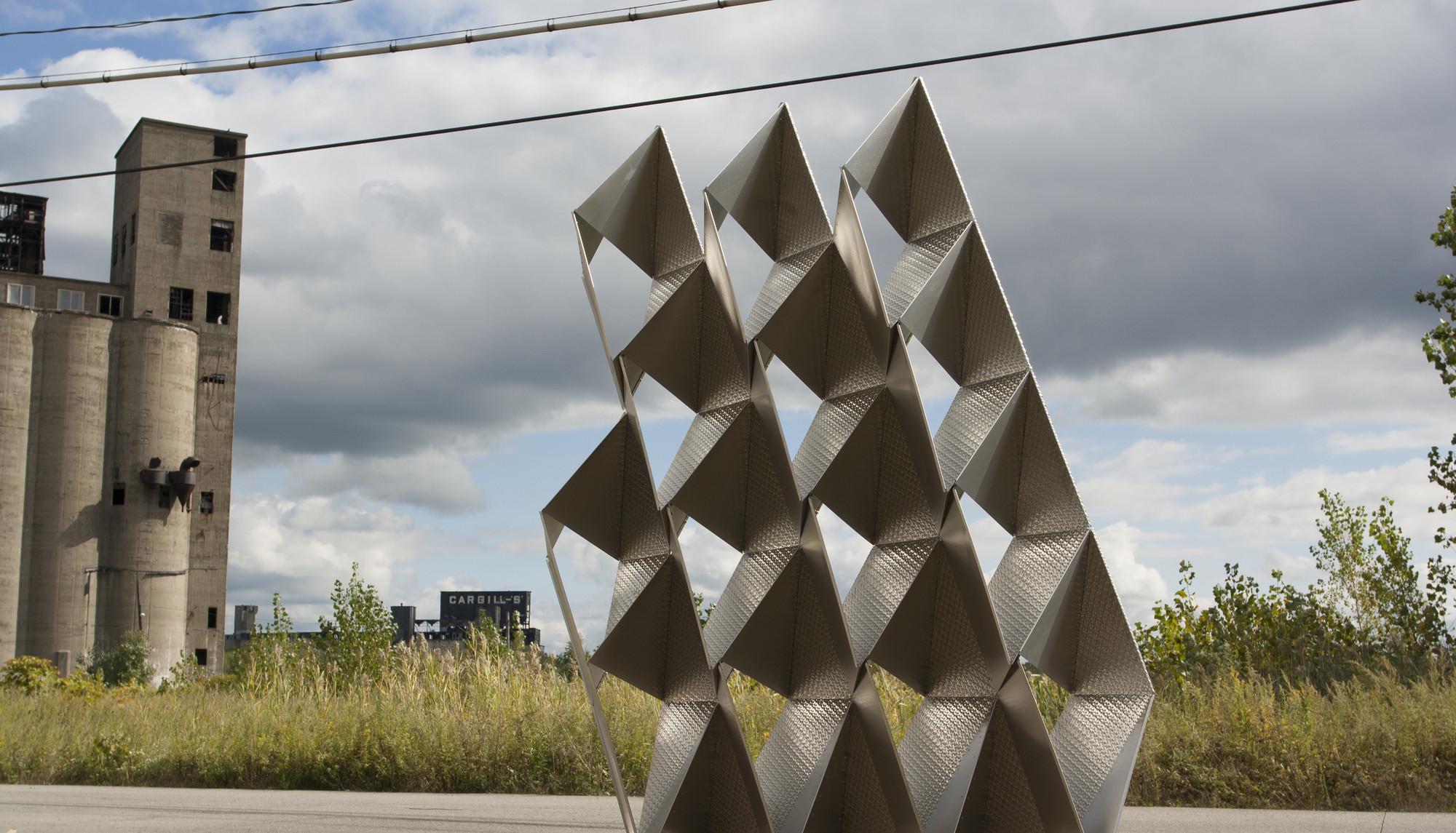 Muro compuesto de módulos de acero gana el Concurso de Fabricación Digital SKIN, Cortesía de TEX-FAB