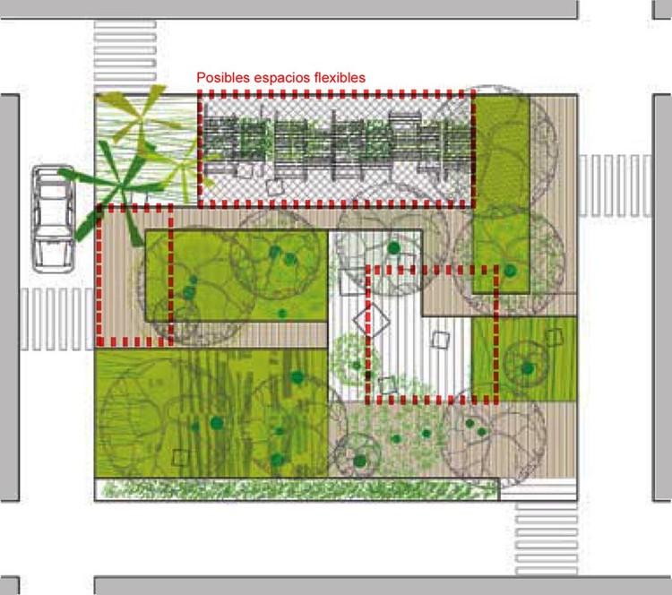 Fig. 17. Guía de vegetación para ambientes urbanos. Ayuntamiento de Madrid.  Disposición de arbolado recomendada para una Plaza en el Casco Antiguo (Madrid).