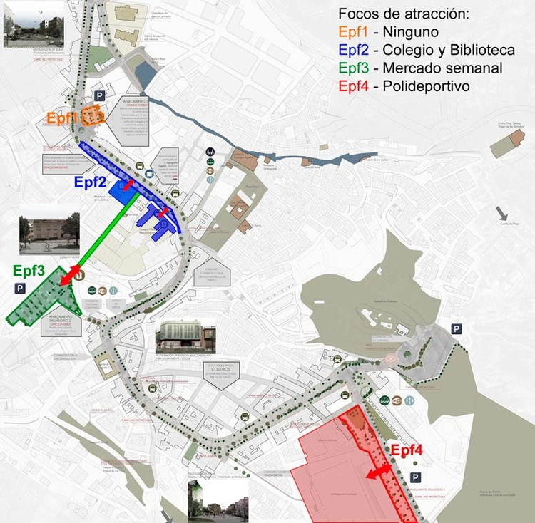 Fig. 19. Espacios Públicos Flexibles. Plan Estratégico de Pliego. Murcia.