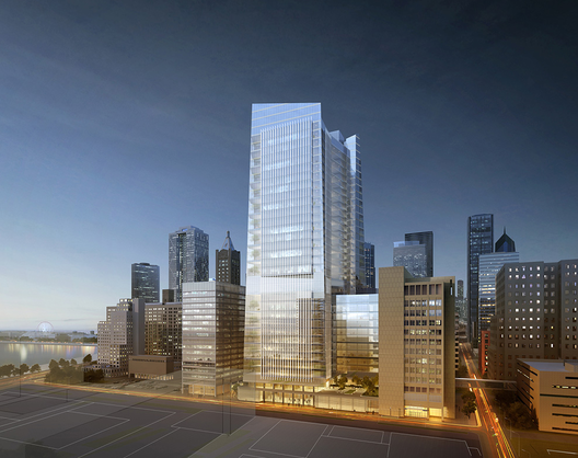 Goettsch Partners and Ballinger Proposal. Image Courtesy of Northwestern University