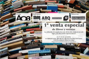 Primera e inédita venta de textos claves de Arquitectura en Espacio AOA, Cortesía de AOA