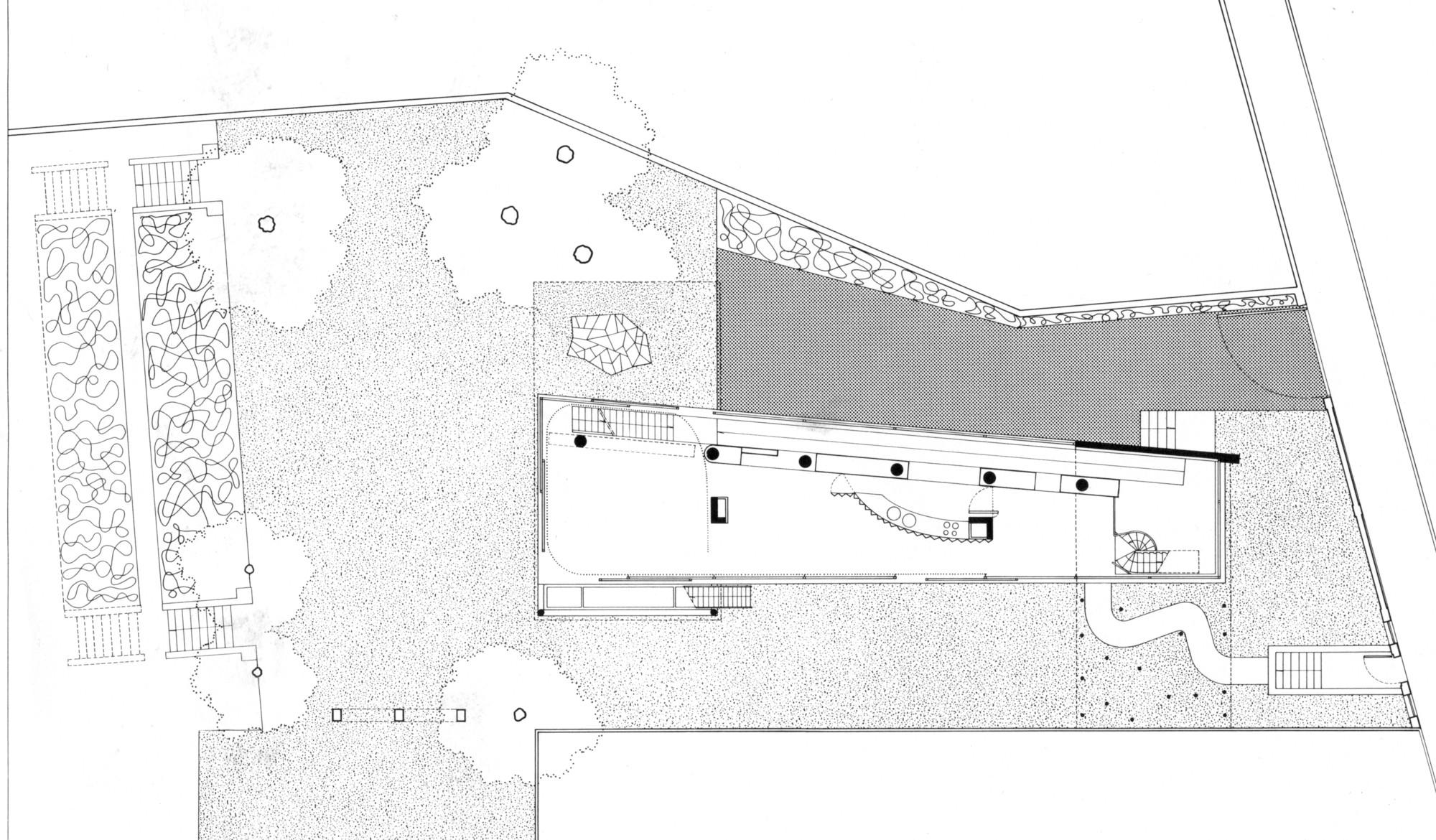 Ad classics villa dall 39 ava oma archdaily for Villa plan dwg