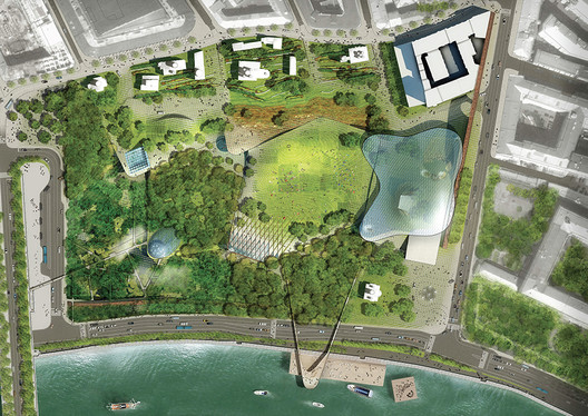 Diller Scofidio + Renfro's winning proposal - Masterplan. Image Courtesy of KB Strelka