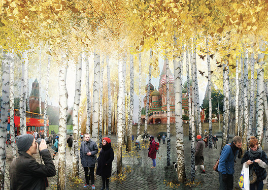 Entrance from the Red Square - Diller Scofidio + Renfro's winning proposal. Image Courtesy of KB Strelka