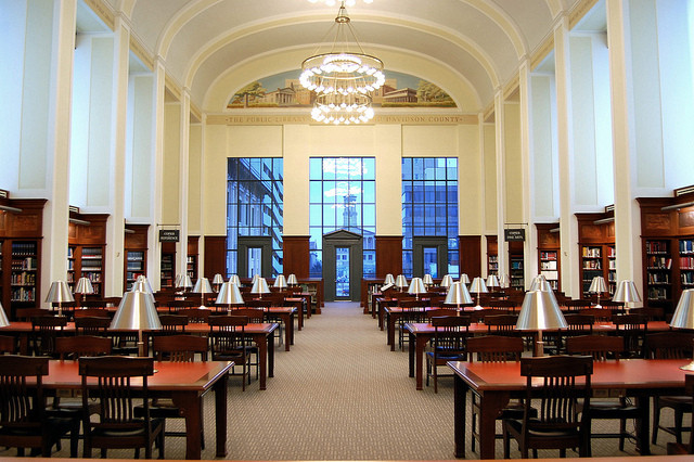 Robert A.M. Stern: Old-Fashioned yet Unfazed, The reading room in the Nashville Public Library. Image Courtesy of Flickr User robert.claypool