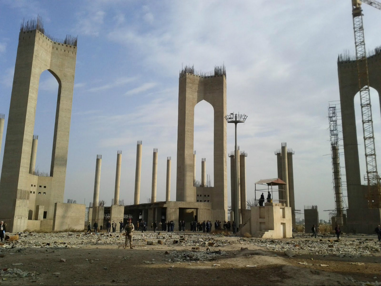 Existing site for Iraqi parliament complex in Baghdad. Image © Assemblage