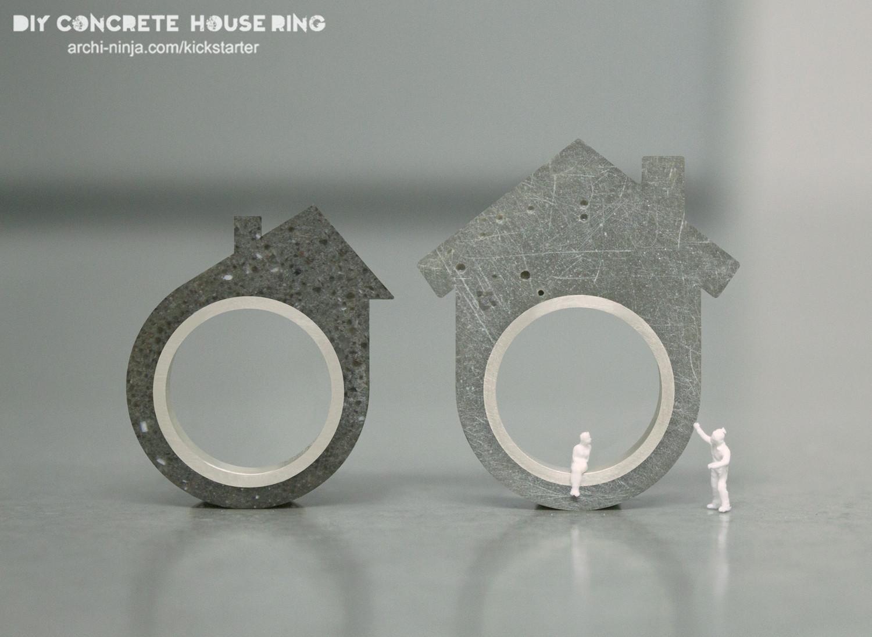 Kickstarter: DIY Concrete House Ring, Courtesy of Linda Bennett, via archi-ninja