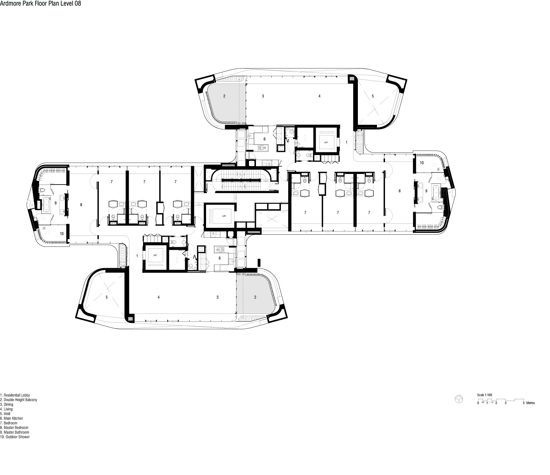 2 Bedroom Apartments San Francisco Gallery Of Ardmore Residence Unstudio 9