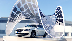 SDA + Volvo Collaborate to Create Portable Car-Charging Pavilion