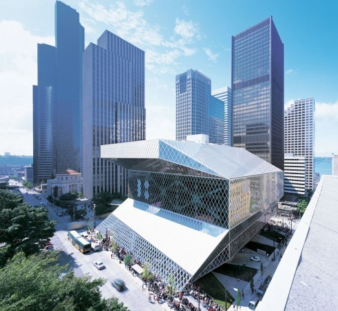 Seattle Central Library / OMA + LMN. Image © OMA