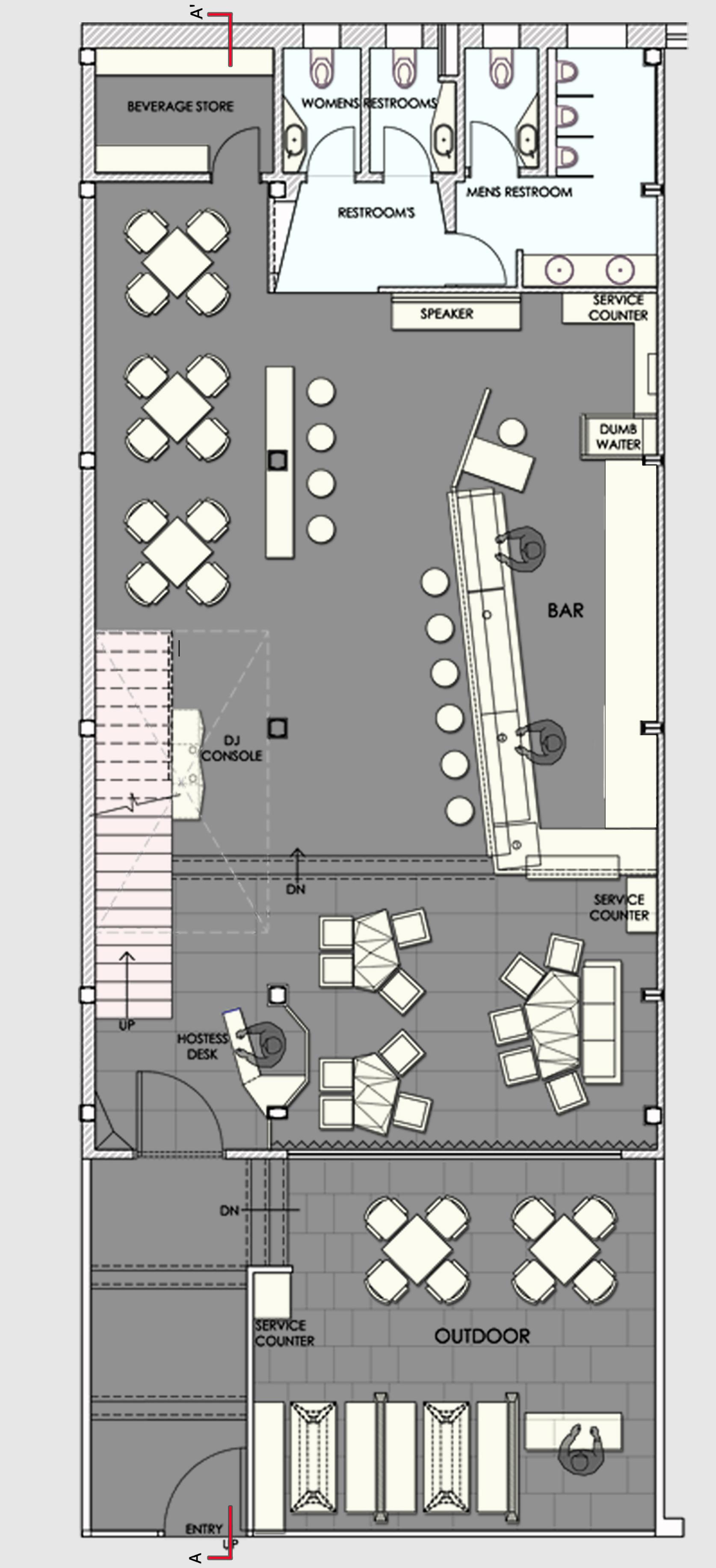 Gallery of auriga restaurant sanjay puri 14 for Restaurant layout plan