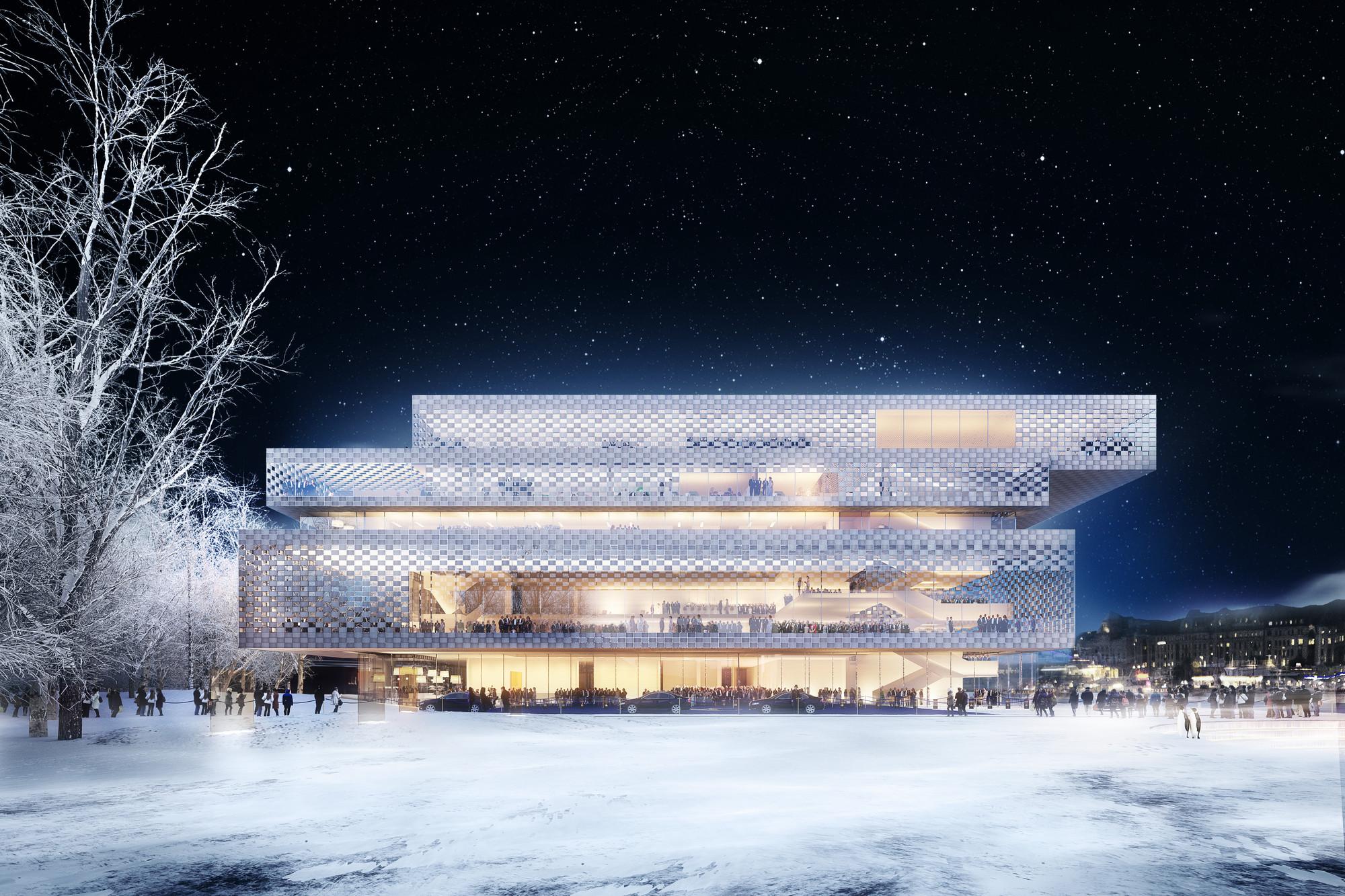 Chipperfield entre los 3 finalistas del Concurso Sede del Premio Nobel en Estocolmo, A P(a)lace to Enjoy / Wingårdh Arkitektkontor AB. Image © Nobelhuset AB