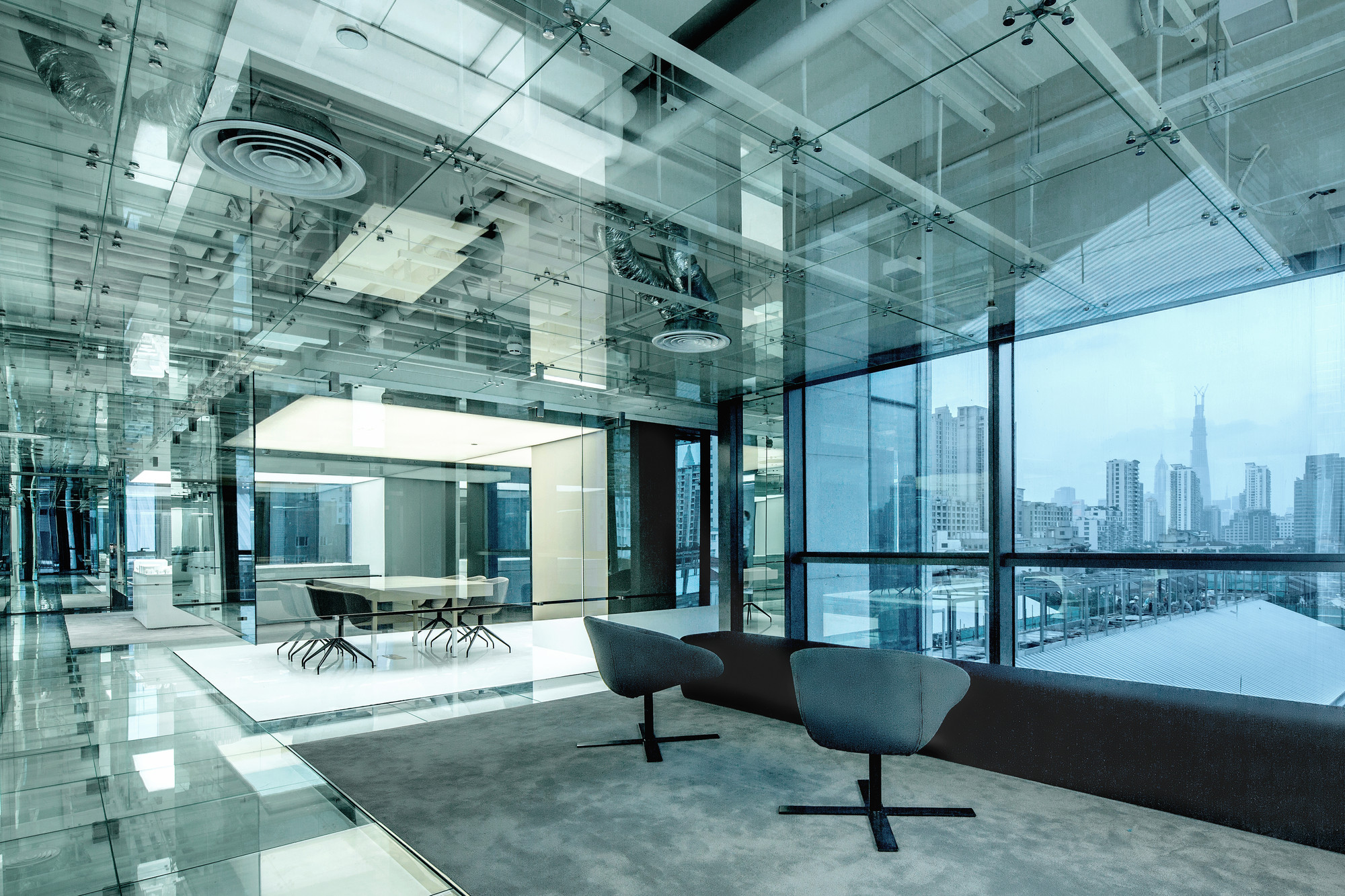 Glass Office Soho China Aim Architecture Archdaily
