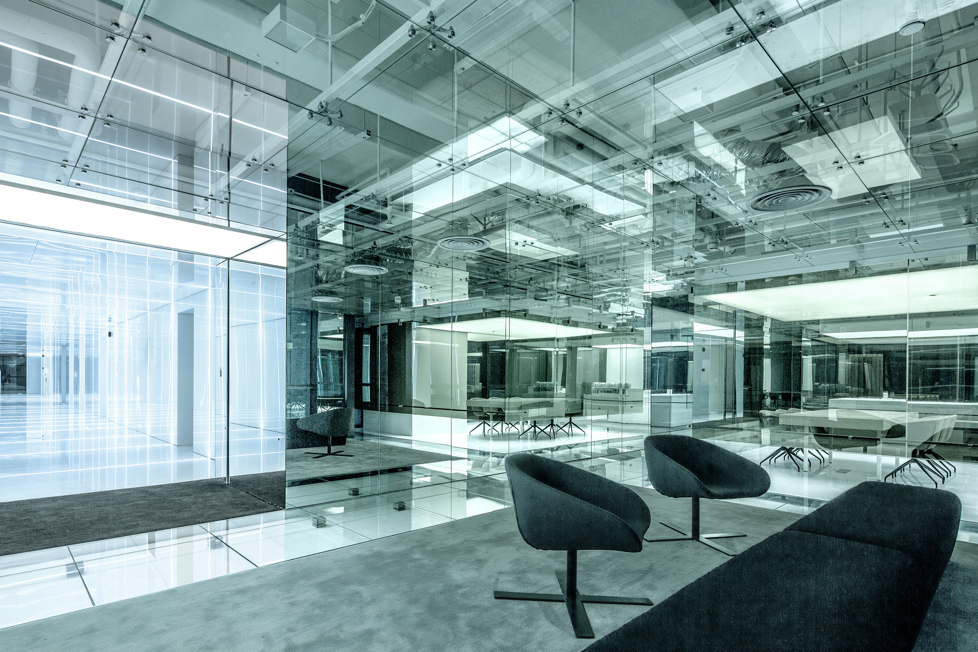 In This House Wall Sticker Gallery Of Glass Office Soho China Aim Architecture 8