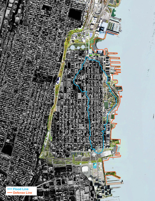 Resist, Delay, Store, Discharge: OMA's Comprehensive Strategy for Hoboken. Image Courtesy of OMA