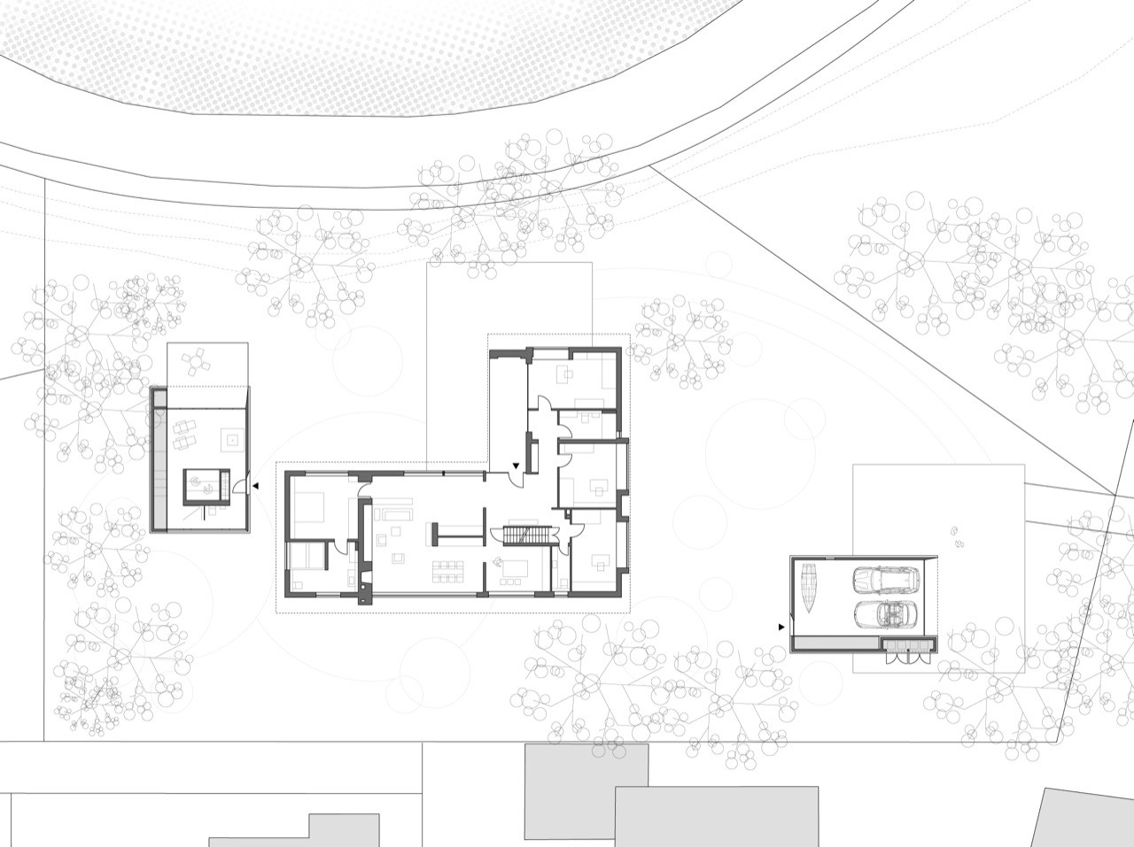 Cmyk house mcknhm architects archdaily for House site plan