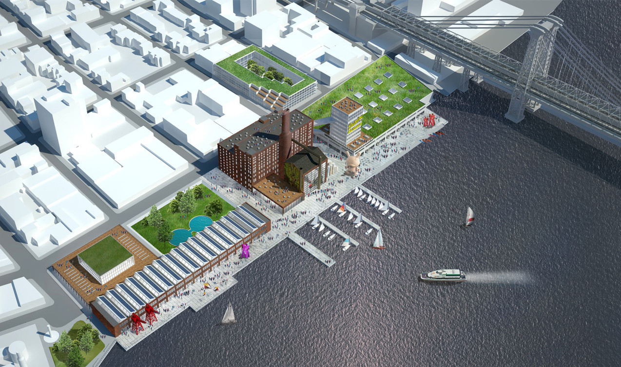 "HAO Makes Counter-Proposal To ""Save"" Sugar Factory from Development in Brooklyn, Courtesy of HAO"