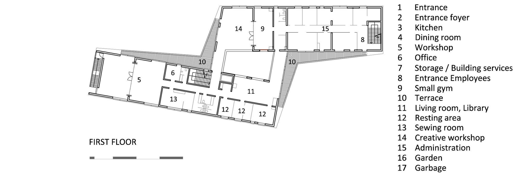 Pleasing Gallery Of Occupational Activity Center Ince Menge  Jereb In  With Exciting Occupational Activity Center Ince Mengefirst Floor Plan With Nice Trenance Gardens Newquay Also Garden Furniture Sofa In Addition Covent Garden Venue Hire And Room And Garden As Well As Rutland Garden Centre Additionally Wild Cafe Covent Garden From Archdailycom With   Exciting Gallery Of Occupational Activity Center Ince Menge  Jereb In  With Nice Occupational Activity Center Ince Mengefirst Floor Plan And Pleasing Trenance Gardens Newquay Also Garden Furniture Sofa In Addition Covent Garden Venue Hire From Archdailycom
