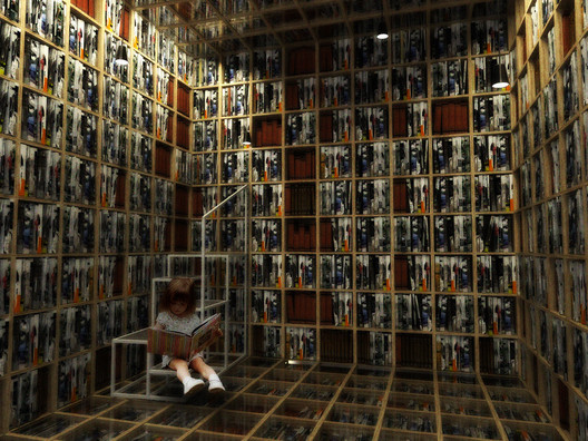 Knowledge Room: Books. Image Courtesy of Arqbauraum