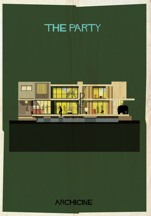 The Party. Directed by Blake Edwards.  Imagen cortesía de Federico Babina