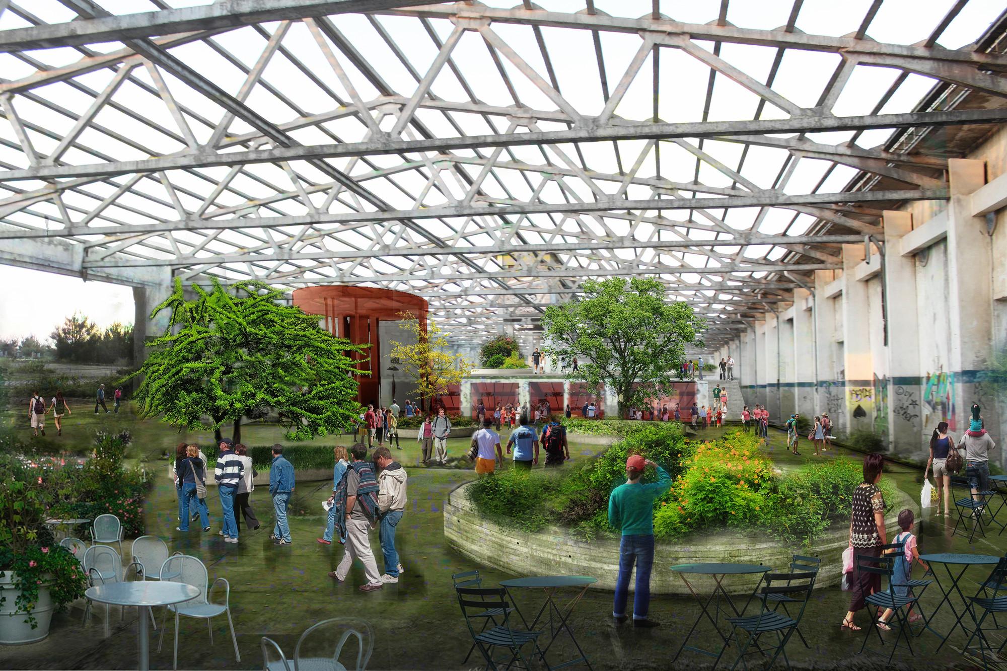 Hangares. Image Courtesy of Equipo Segundo Lugar