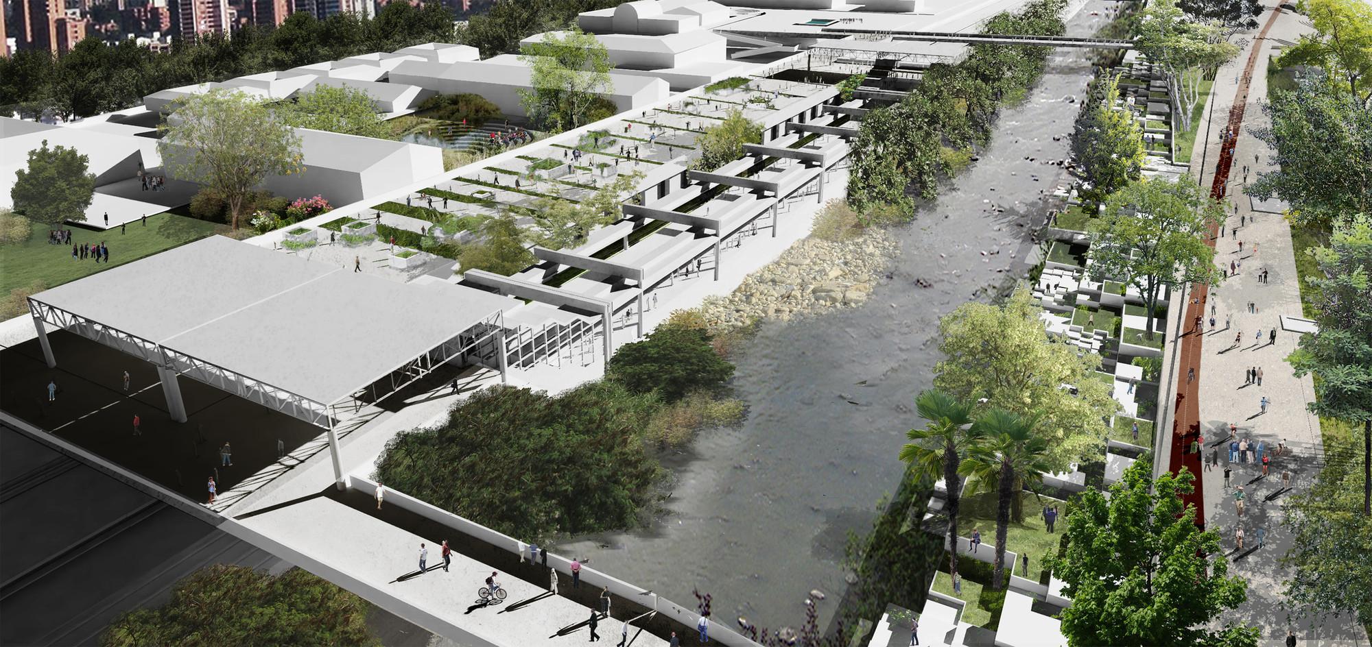 Parque Estación Poblado. Image Courtesy of Equipo Segundo Lugar